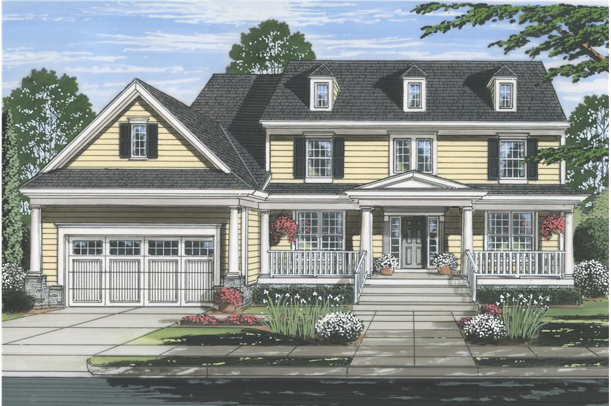 Front elevation of Country home (ThePlanCollection: House Plan #169-1110)