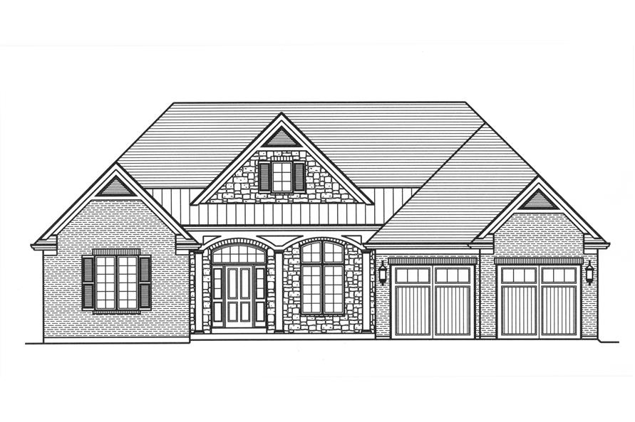 169-1111: Home Plan Front Elevation