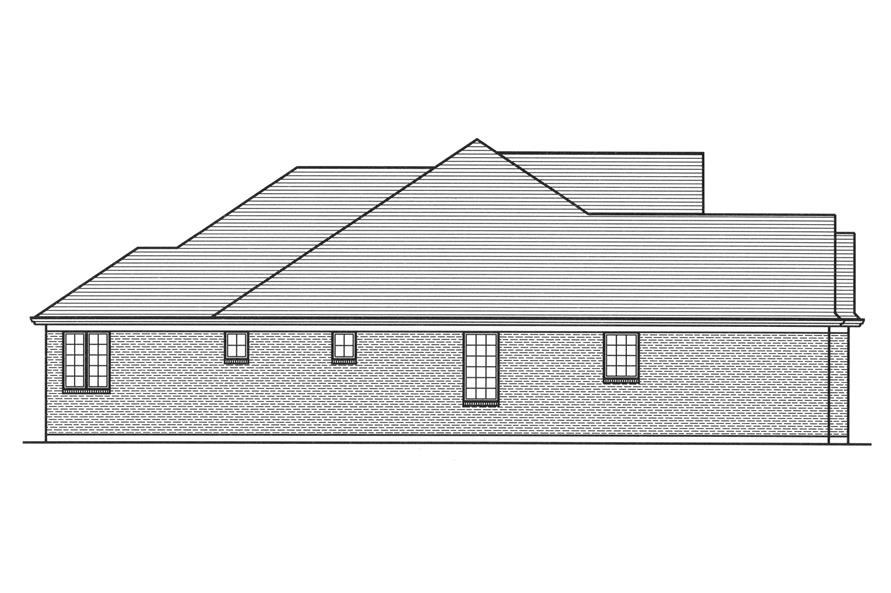 169-1111: Home Plan Left Elevation
