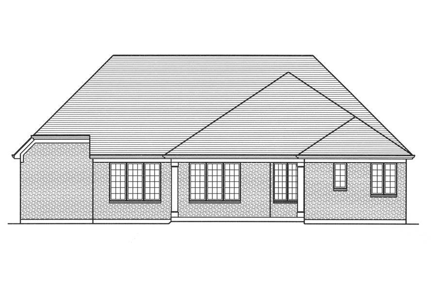 169-1111: Home Plan Rear Elevation