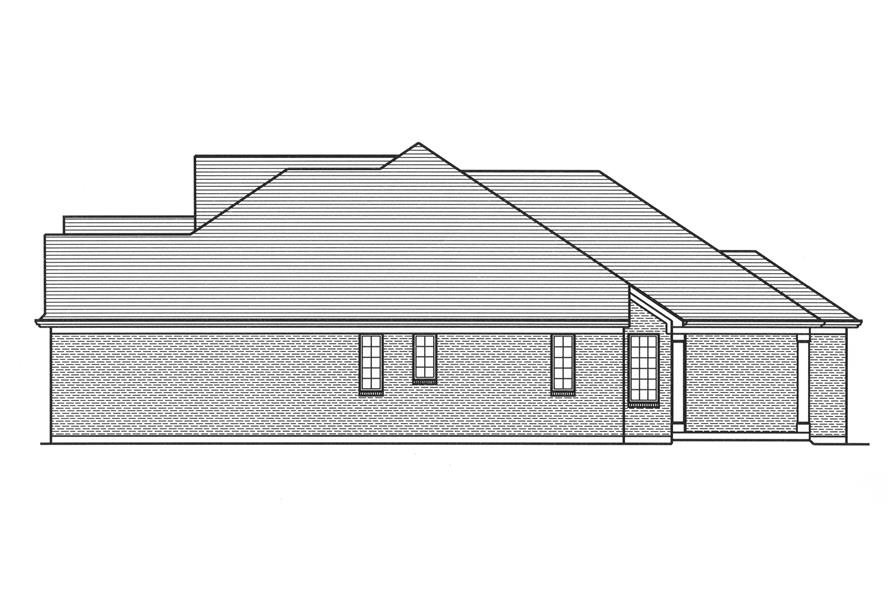 169-1111: Home Plan Right Elevation