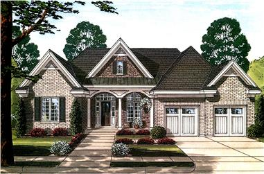Front elevation of Country home (ThePlanCollection: House Plan #169-1111)