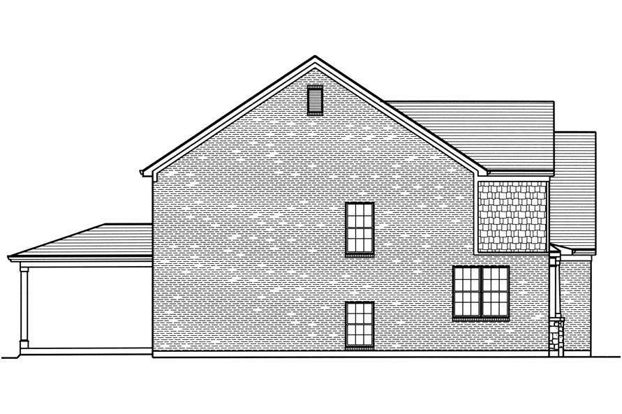 169-1112: Home Plan Left Elevation