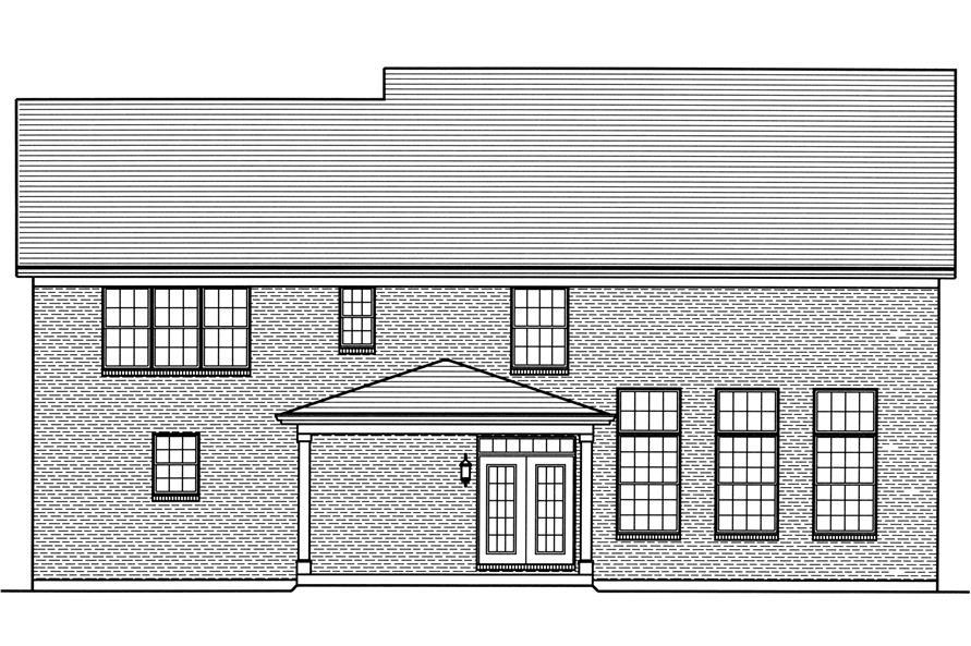 169-1112: Home Plan Rear Elevation