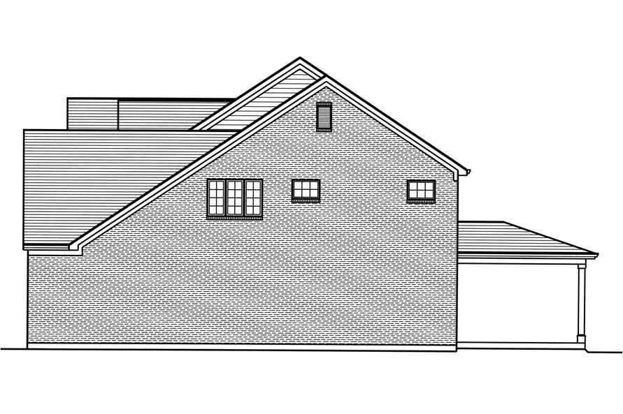 169-1112: Home Plan Right Elevation