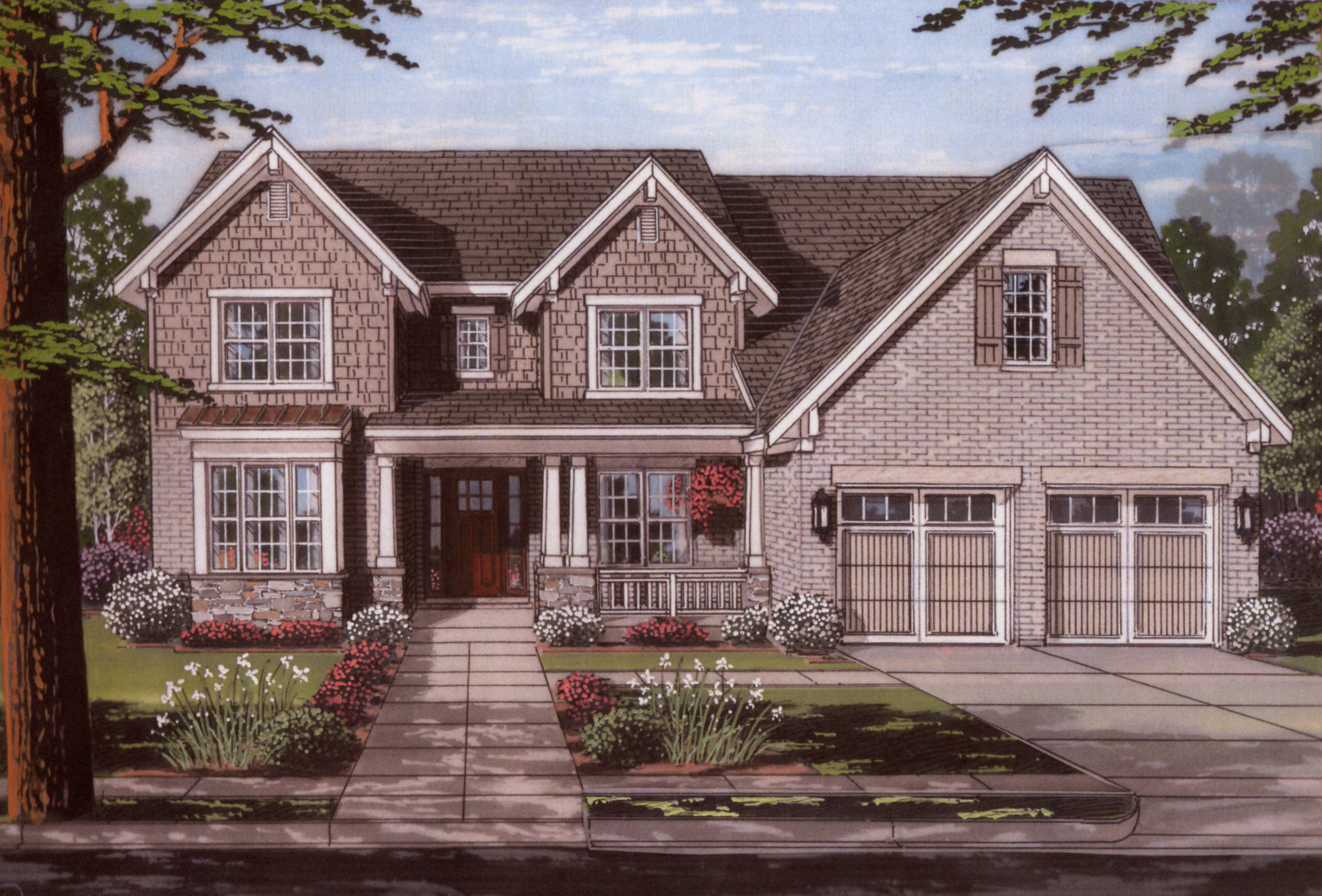 Traditional house plan 169 1112 4 bedrm 3280 sq ft home for Traditional farmhouse plans