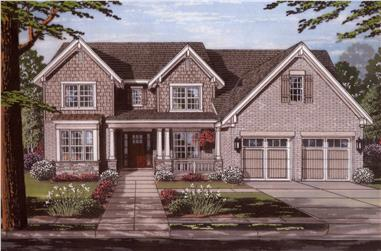 Front elevation of Traditional home (ThePlanCollection: House Plan #169-1112)