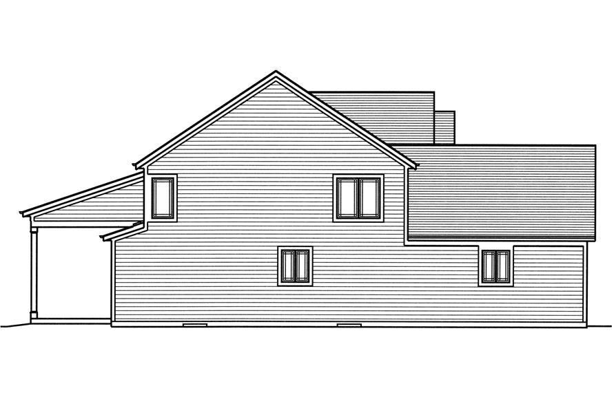 169-1114: Home Plan Left Elevation