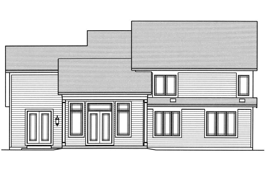 169-1114: Home Plan Rear Elevation