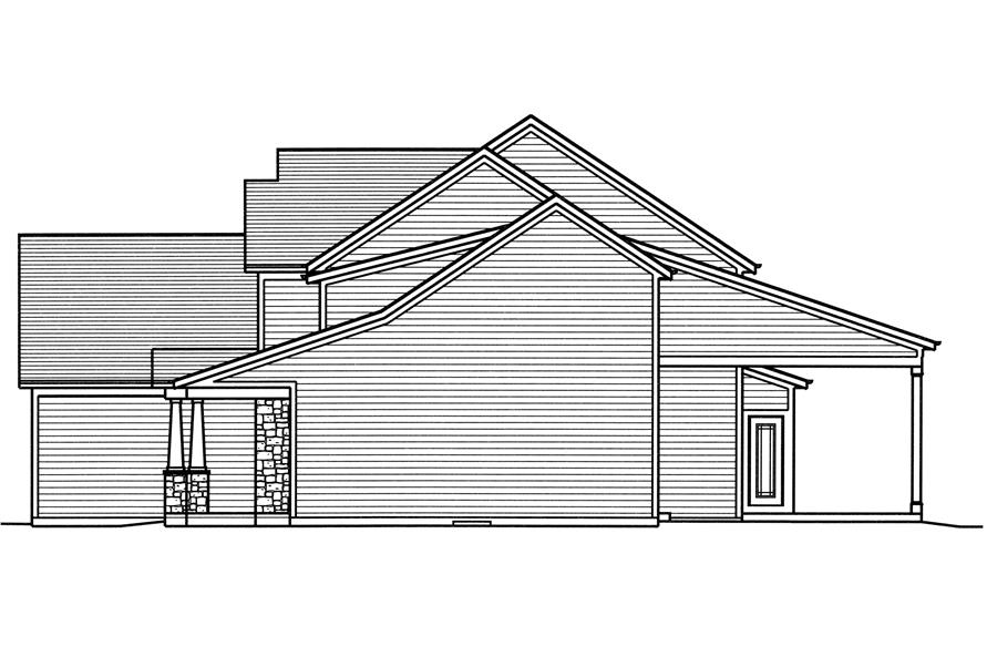 169-1114: Home Plan Right Elevation