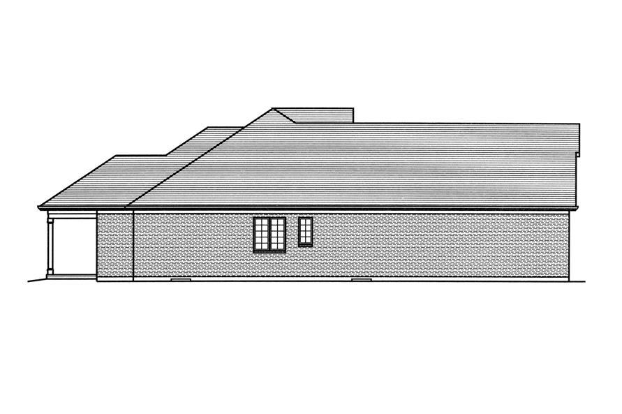 169-1115: Home Plan Left Elevation