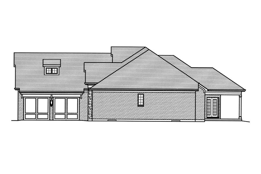 169-1115: Home Plan Right Elevation