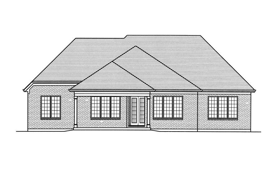 169-1115: Home Plan Rear Elevation