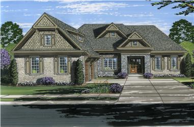 Front elevation of Traditional home (ThePlanCollection: House Plan #169-1115)
