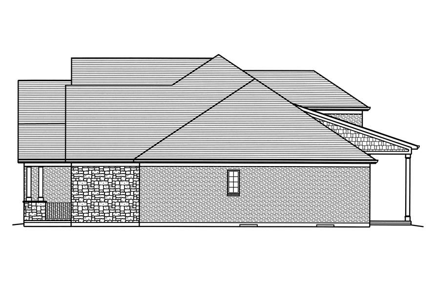 169-1116: Home Plan Left Elevation
