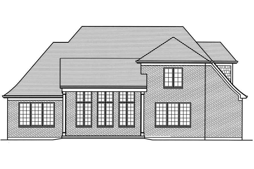 169-1116: Home Plan Rear Elevation