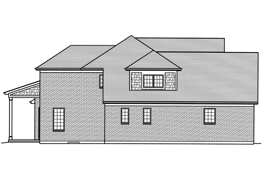 169-1116: Home Plan Right Elevation