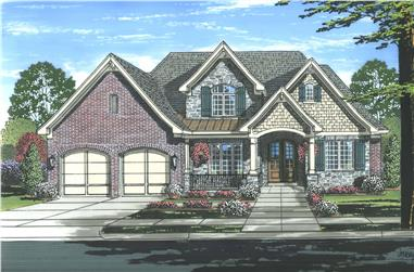 4-Bedroom, 3226 Sq Ft Luxury House Plan - 169-1116 - Front Exterior