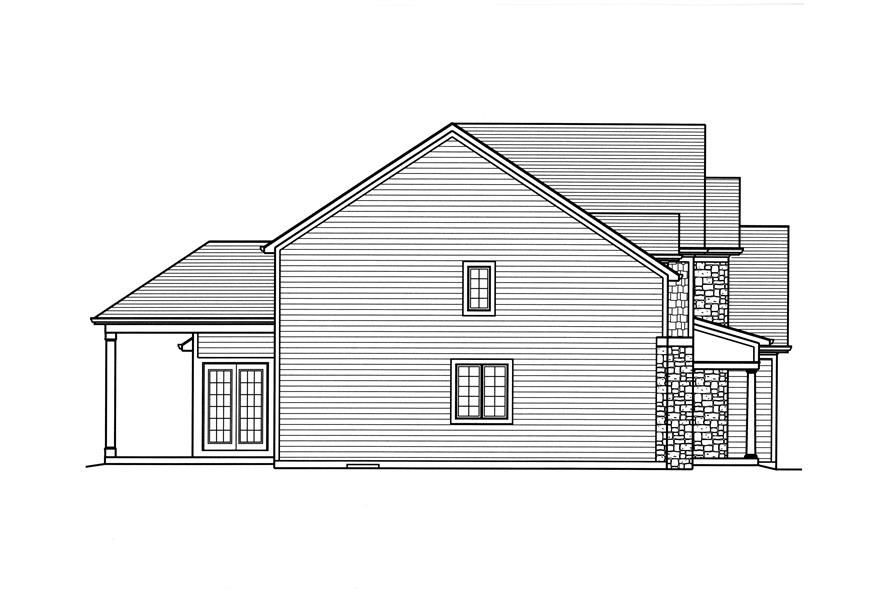 169-1117: Home Plan Left Elevation