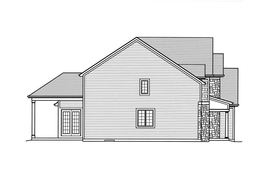 169-1117: Home Plan Left Elevation