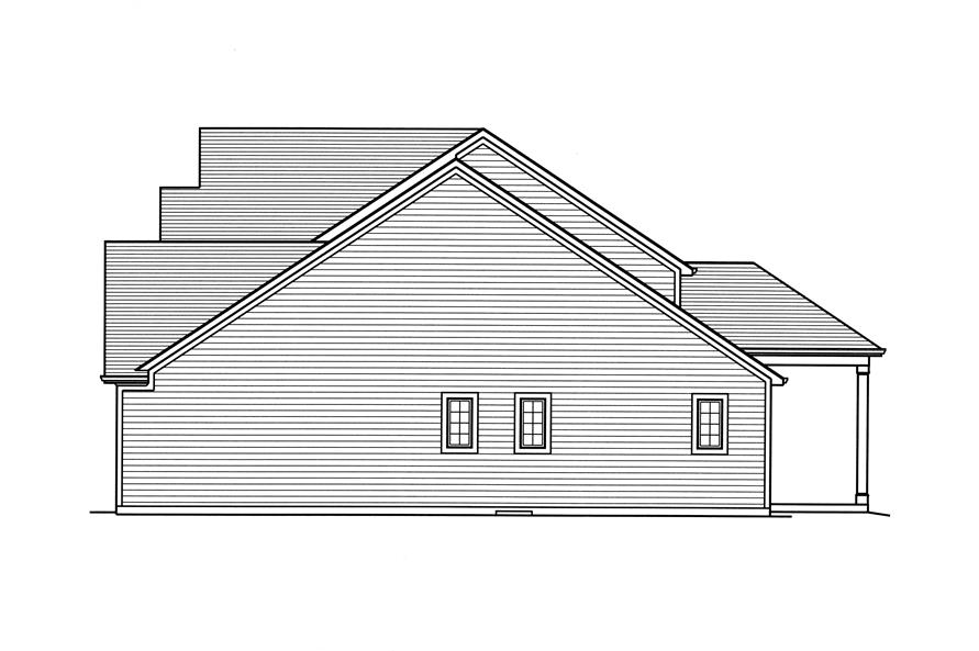 169-1117: Home Plan Right Elevation