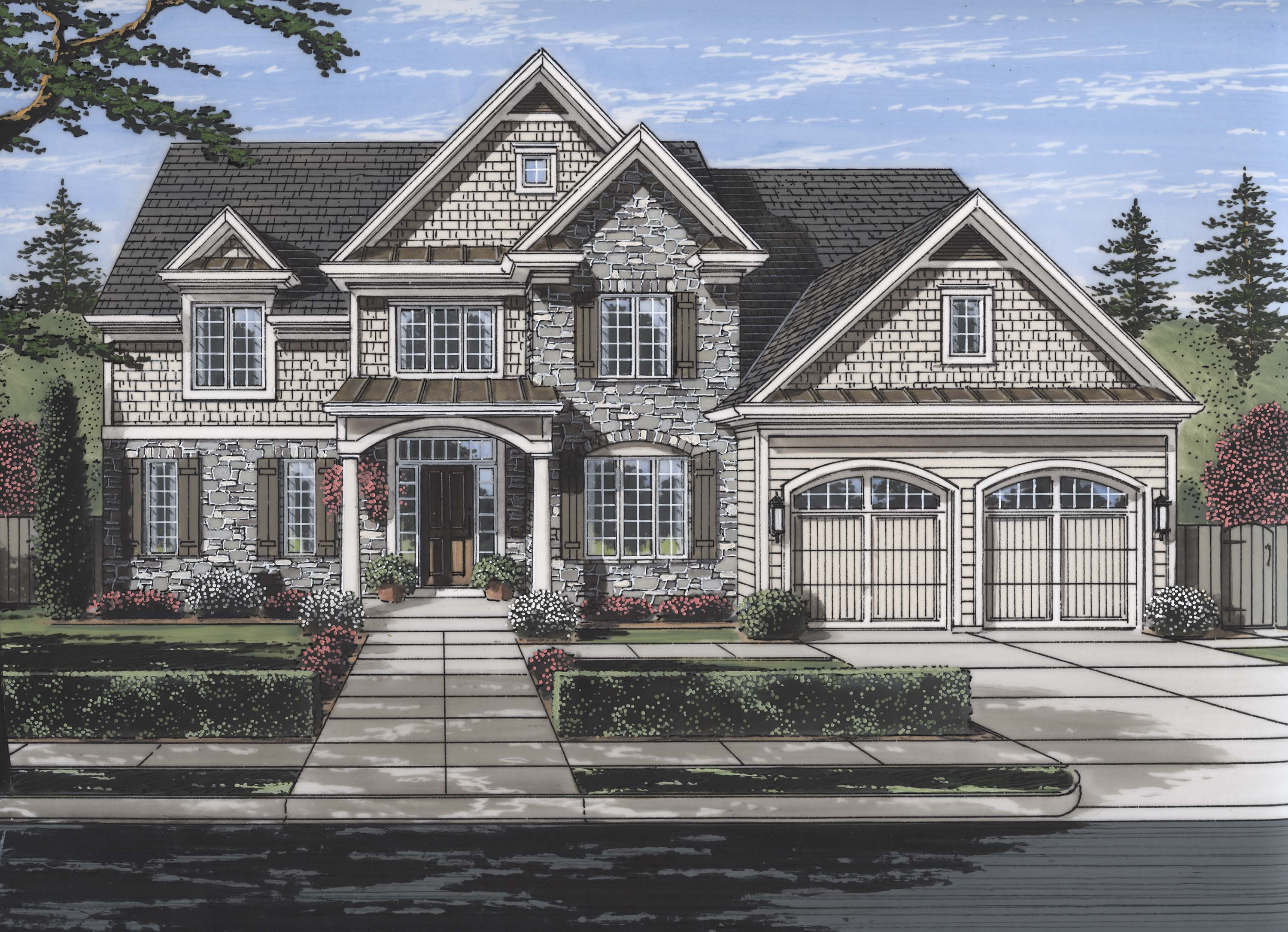 Luxury house plan 169 1117 4 bedrm 3113 sq ft home for Theplancollection com modern house plans