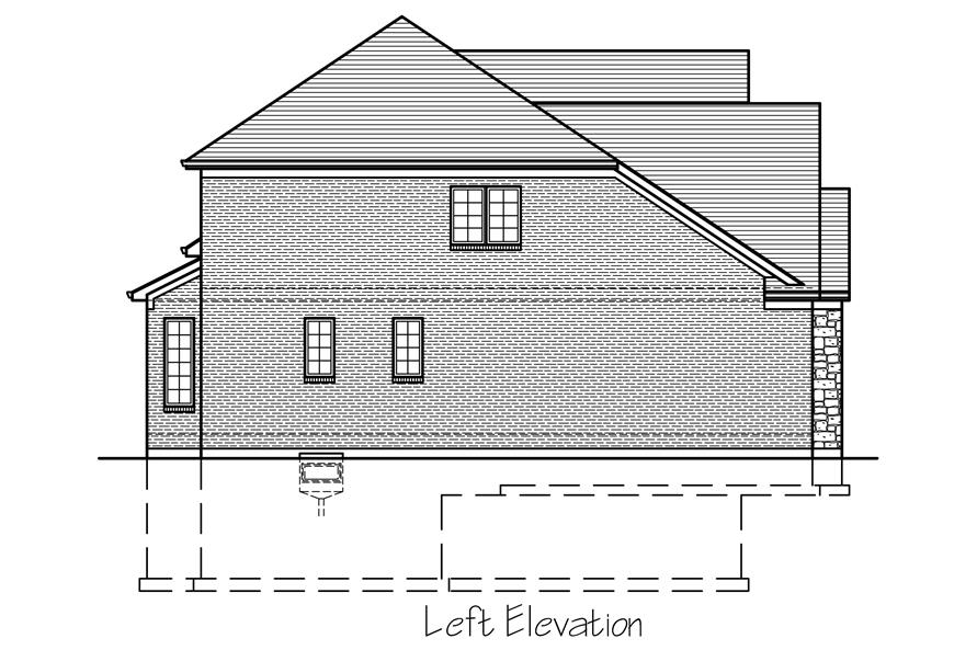 169-1119: Home Plan Left Elevation