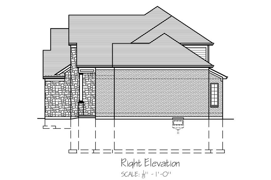169-1119: Home Plan Right Elevation