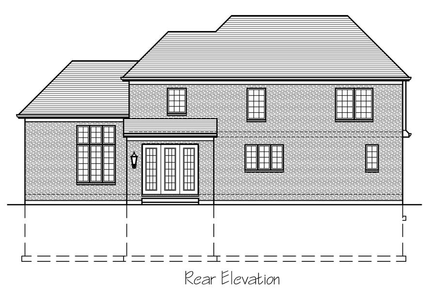 169-1119: Home Plan Rear Elevation