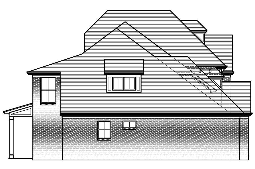 169-1120: Home Plan Left Elevation