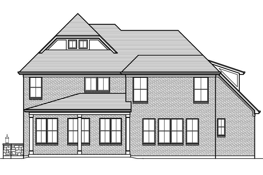 169-1120: Home Plan Rear Elevation