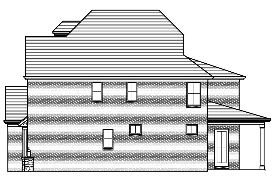 169-1120: Home Plan Right Elevation