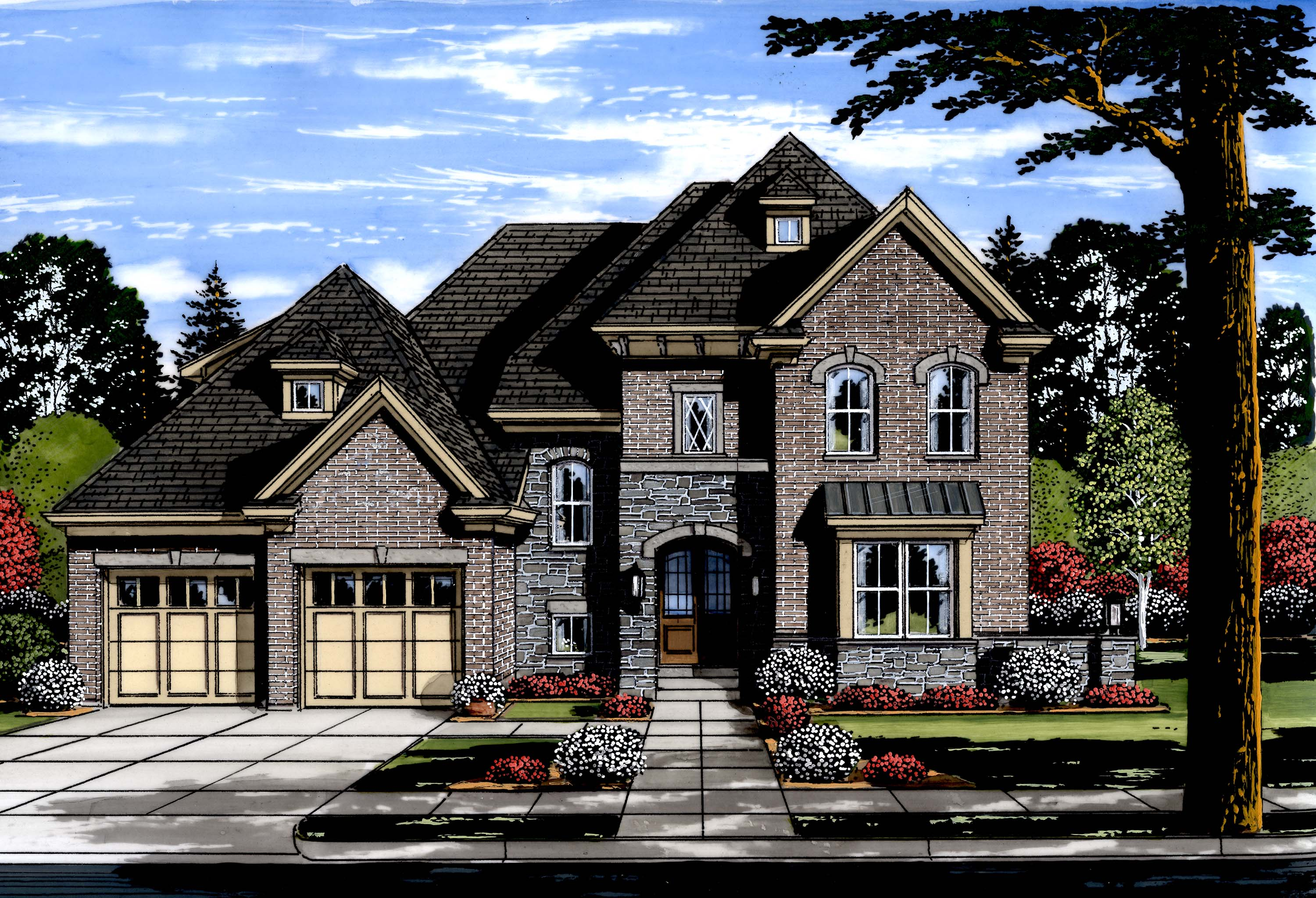 Home Plans: Luxury House Plan #169-1120: 4 Bedrm, 3287 Sq Ft Home