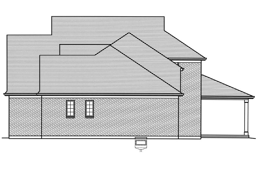 169-1121: Home Plan Right Elevation