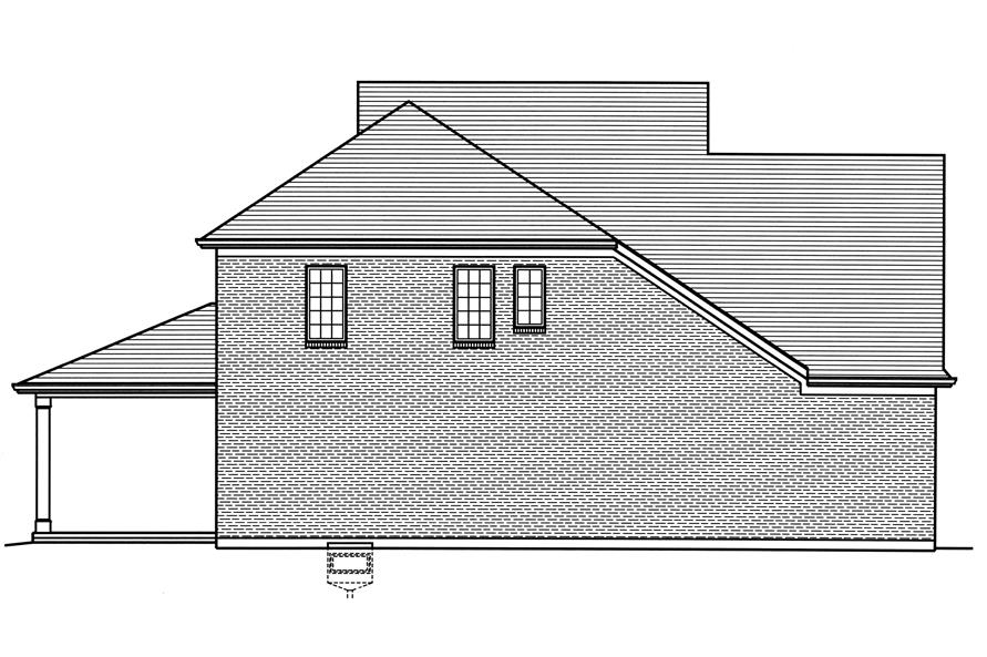 169-1121: Home Plan Left Elevation