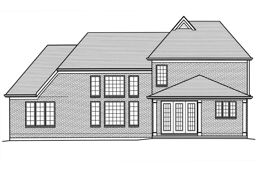 169-1121: Home Plan Rear Elevation