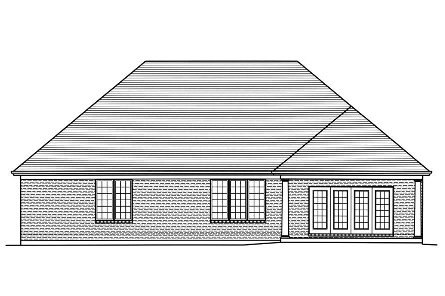 169-1122: Home Plan Rear Elevation