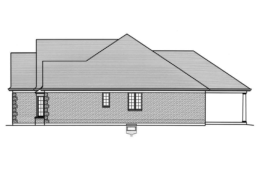 169-1122: Home Plan Right Elevation