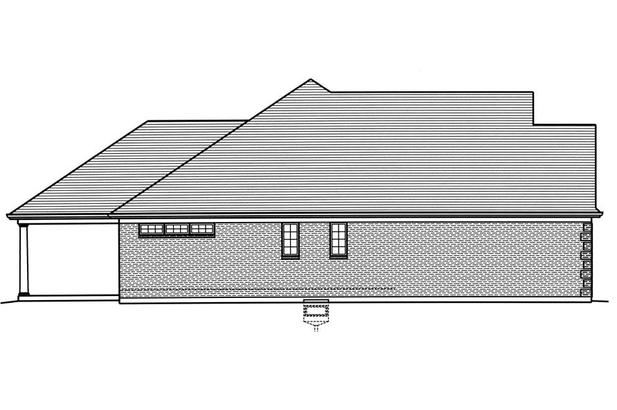 169-1122: Home Plan Left Elevation