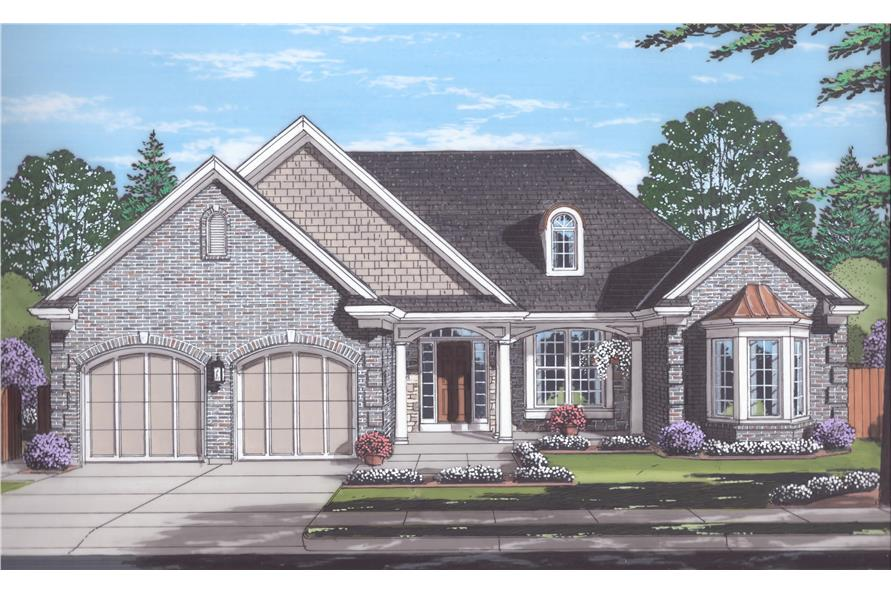 Front elevation of Traditional home (ThePlanCollection: House Plan #169-1122)
