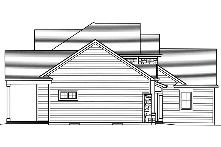 Home Plan Left Elevation of this 4-Bedroom,2543 Sq Ft Plan -169-1124