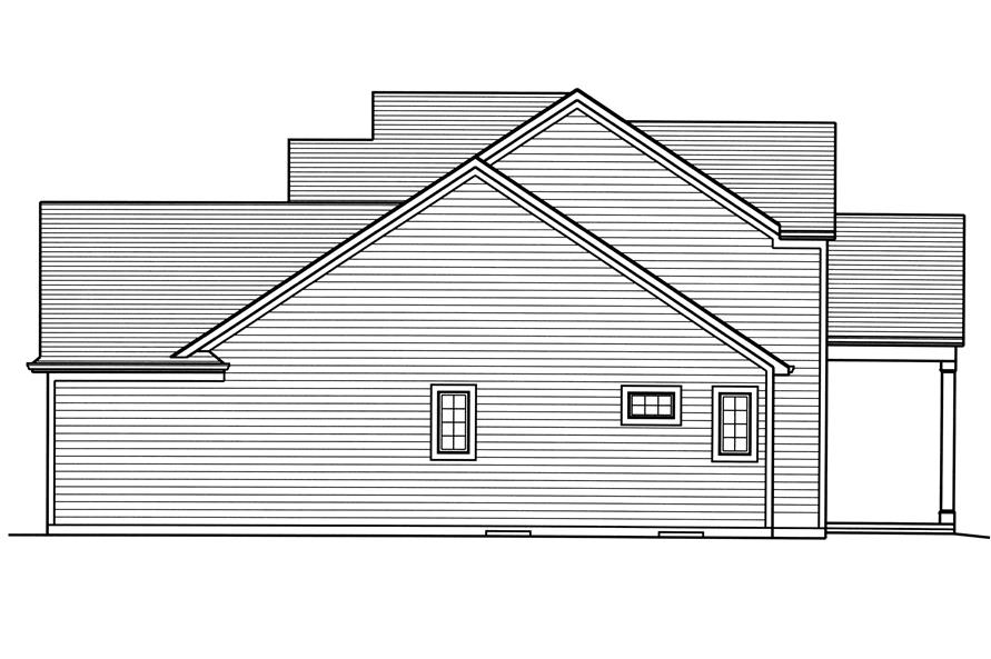 Home Plan Right Elevation of this 4-Bedroom,2543 Sq Ft Plan -169-1124