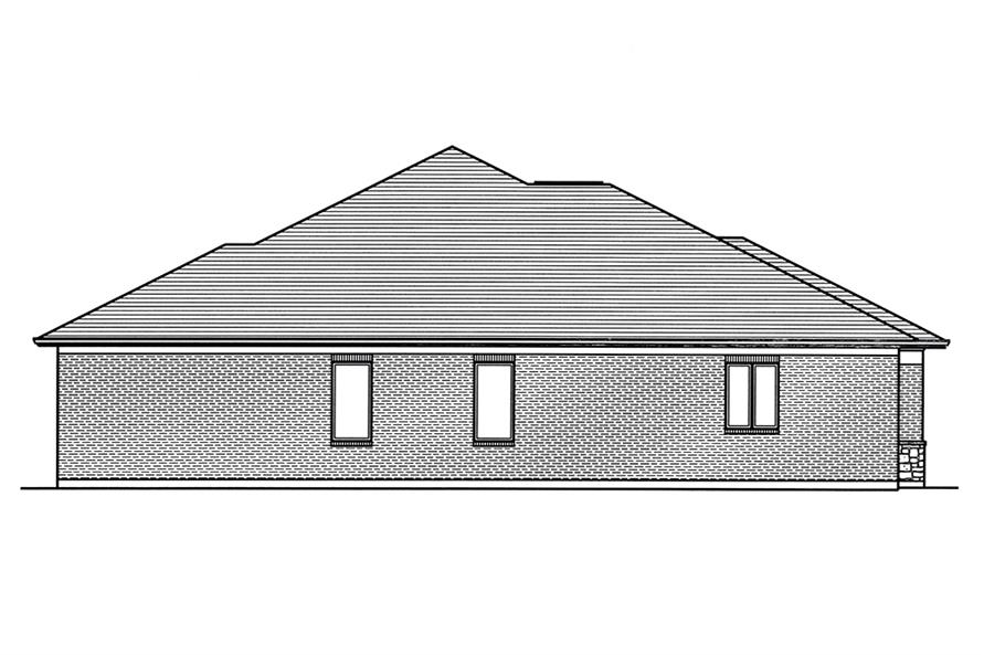 Home Plan Left Elevation of this 3-Bedroom,2099 Sq Ft Plan -169-1130