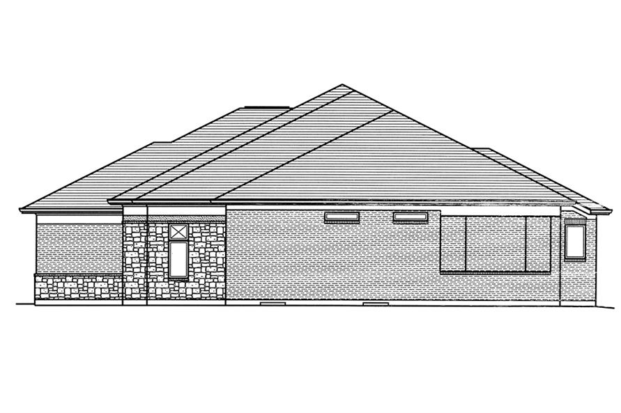Home Plan Right Elevation of this 3-Bedroom,2099 Sq Ft Plan -169-1130