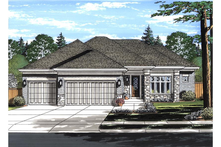 3-Bedroom, 2099 Sq Ft Contemporary Home Plan - 169-1130 - Main Exterior
