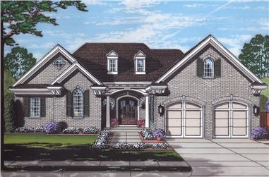 Front elevation of Traditional home (ThePlanCollection: House Plan #169-1135)