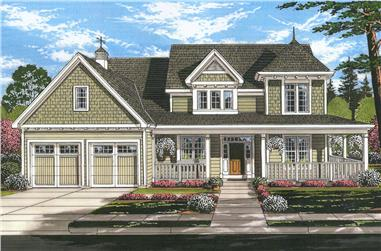 Front elevation of Craftsman home (ThePlanCollection: House Plan #169-1138)