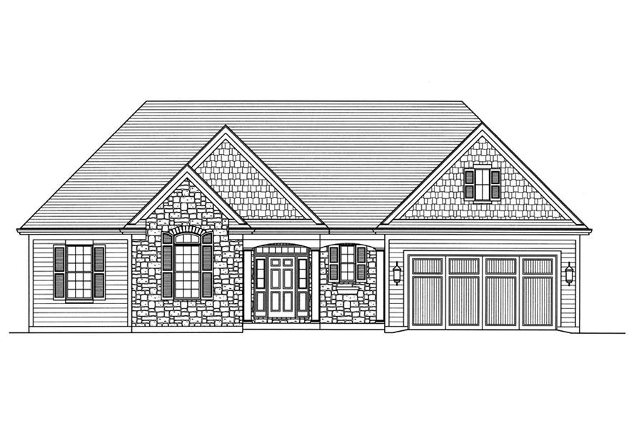 Home Plan Front Elevation of this 3-Bedroom,1867 Sq Ft Plan -169-1139