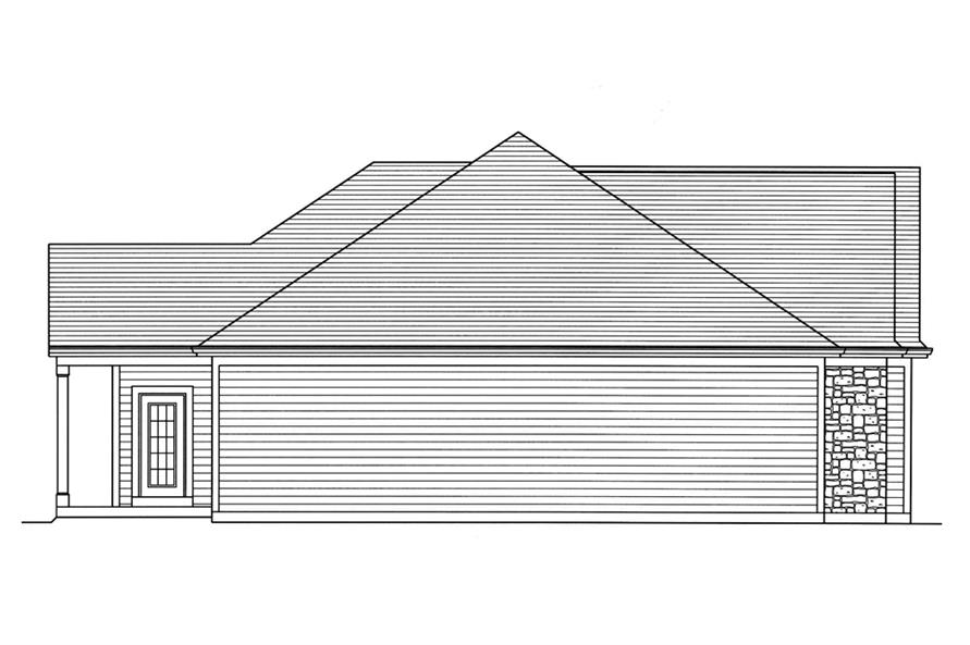 Home Plan Left Elevation of this 3-Bedroom,1867 Sq Ft Plan -169-1139
