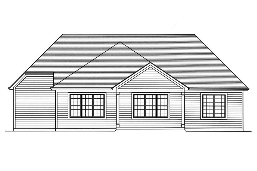 Home Plan Rear Elevation of this 3-Bedroom,1867 Sq Ft Plan -169-1139